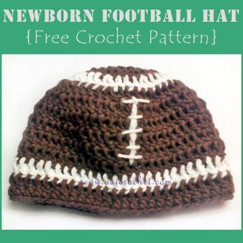 Newborn Football Hat Allfreecrochet