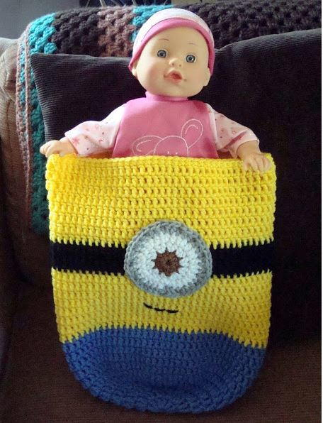 Minion inspired crochet baby cocoon allfreecrochetafghanpatterns minion inspired crochet baby cocoon ccuart Choice Image