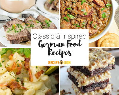 German Food Recipes 23 Classic Dishes