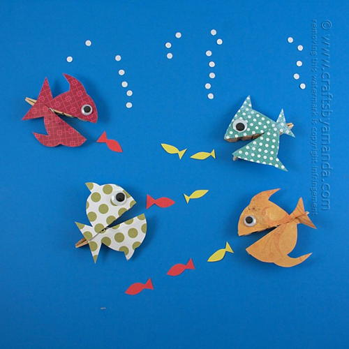 Hungry Clothespin Fish Craft