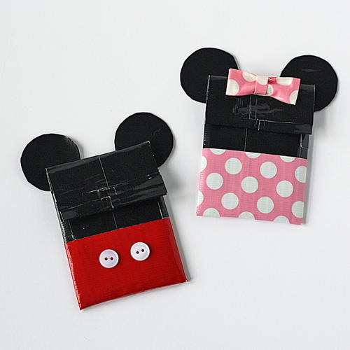 Disney-Inspired Duct Tape DIY Gift Card Holder