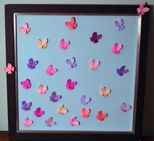 Soaring Origami Butterfly Wall Art