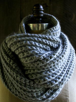Sophisticated Crochet Rib Stitch Cowl