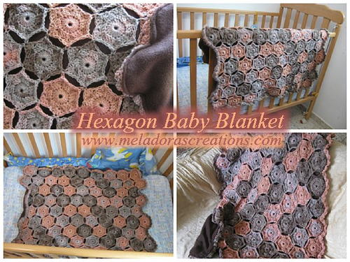 Colorful Hexagon Crochet Baby Blanket Allfreecrochet