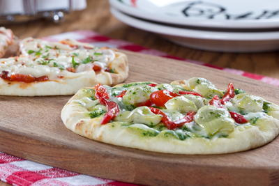 Dressed-Up Pita Pizzas