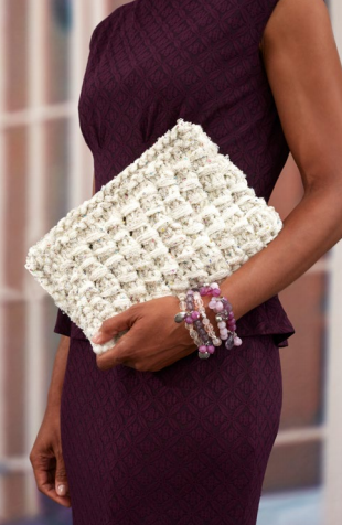 Glam Girl Knit Clutch