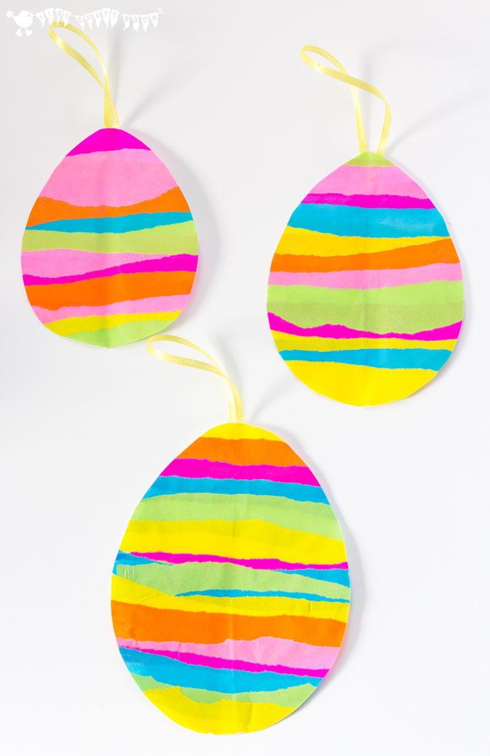 Easter Egg Tissue Paper Suncatcher Allfreekidscrafts Com