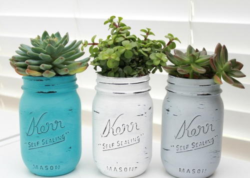 Indoor Garden Mason Jar Planters | DIYIdeaCenter.com on ball jar planter, large jar decor, large jar lamp, mason jar wall planter, large jar light, large jar candle holder, oil jar planter,