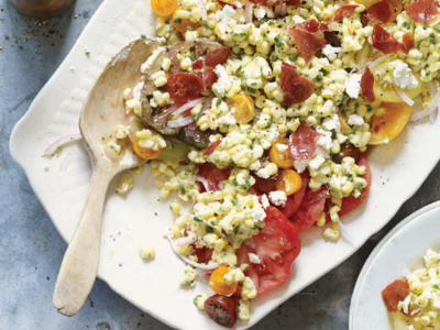 Heirloom Tomato and Summer Corn Salad with Tarragon Vinaigrette