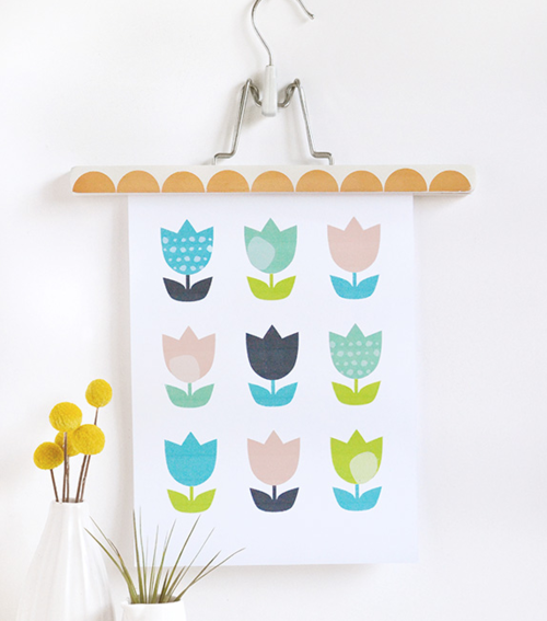 Too Cute Tulips Printable Wall Art