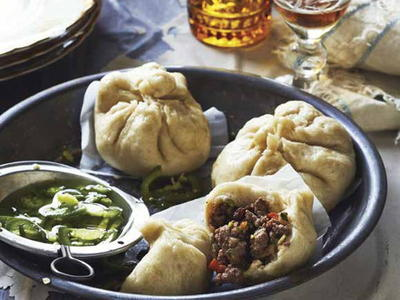 Steamed Cuban Beef Buns