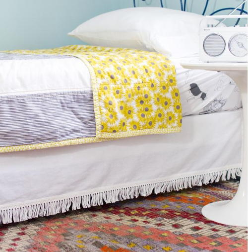 Adorable Velcro Bed Skirt Tutorial