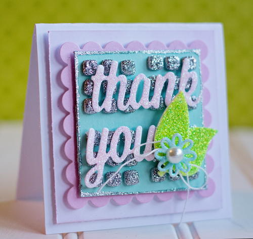 Glittery Thank You Card