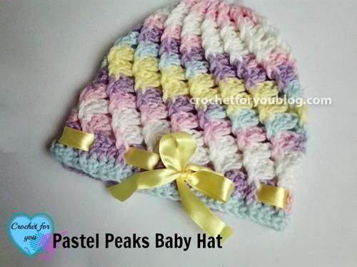 Pastel Peaks Crochet Baby Hat Pattern Allfreecrochet