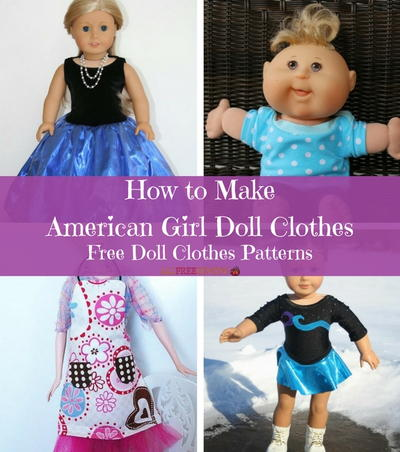 How to Make American Girl Doll Clothes: 16+ Free Doll Clothes ...