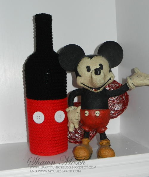 Mickey Mouse Inspired Wine Bottle
