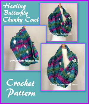 Healing Butterfly Chunky Cowl