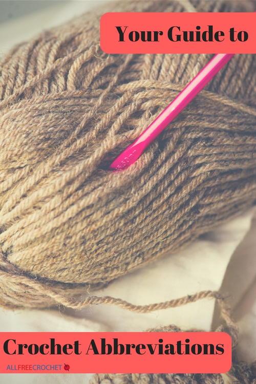 Crochet Abbreviations List Download Allfreecrochet