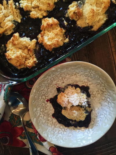 Country Blueberry Cobbler