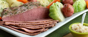 Traditional Irish Corned Beef and Cabbage