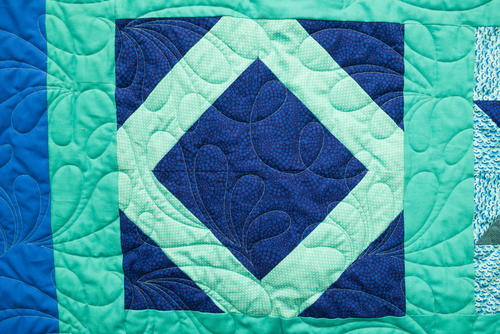 Lattice Square Block Pattern