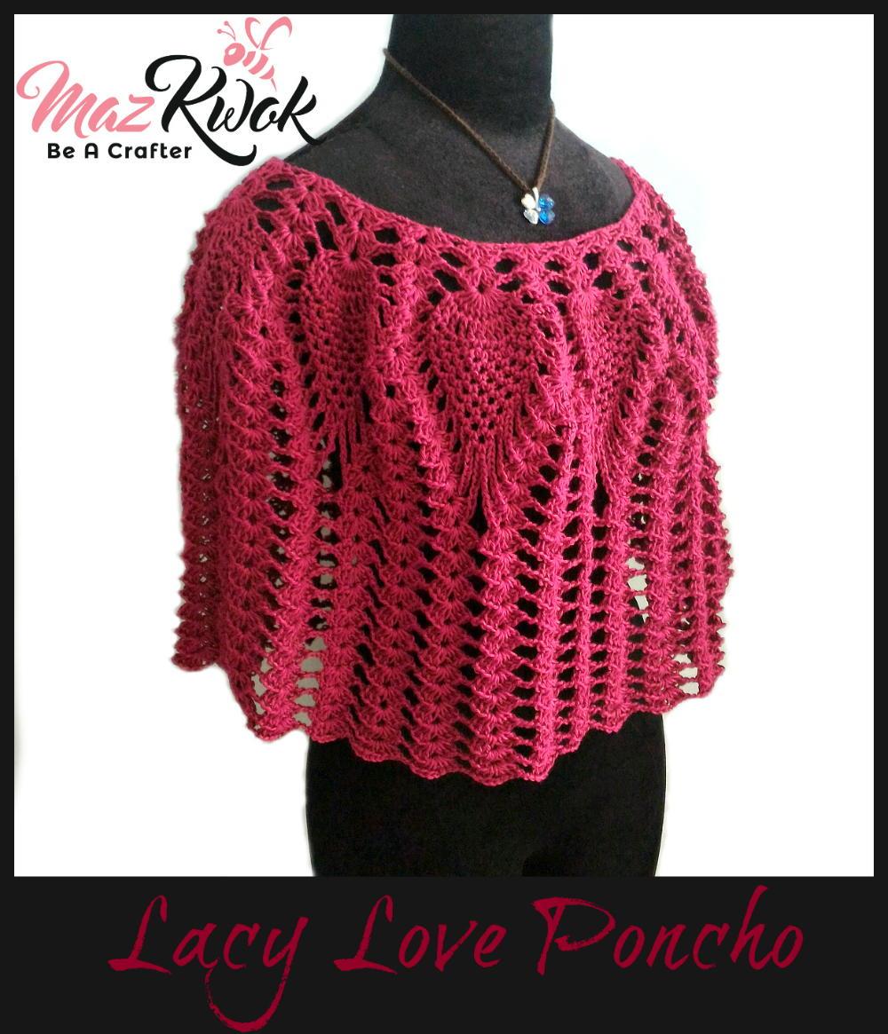 Lacy Love Crochet Poncho | AllFreeCrochet.com