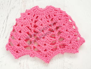 Crochet Messy Bun Hat with Shell Stitches