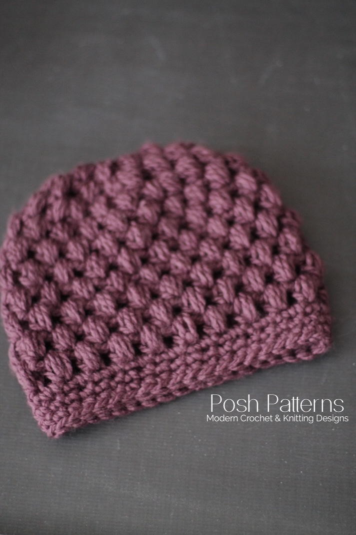 60 Messy Bun Hat Patterns AllFreeCrochet Enchanting Bun Hat Pattern