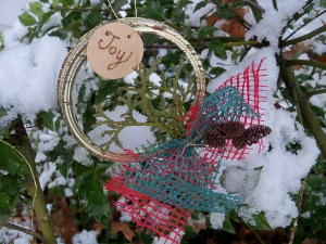 How to Make Canning Jar Lid Wreaths & 70+ Simple Homemade Christmas Ornaments | FaveCrafts.com