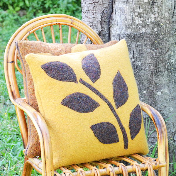 Pillows from Felted Sweaters