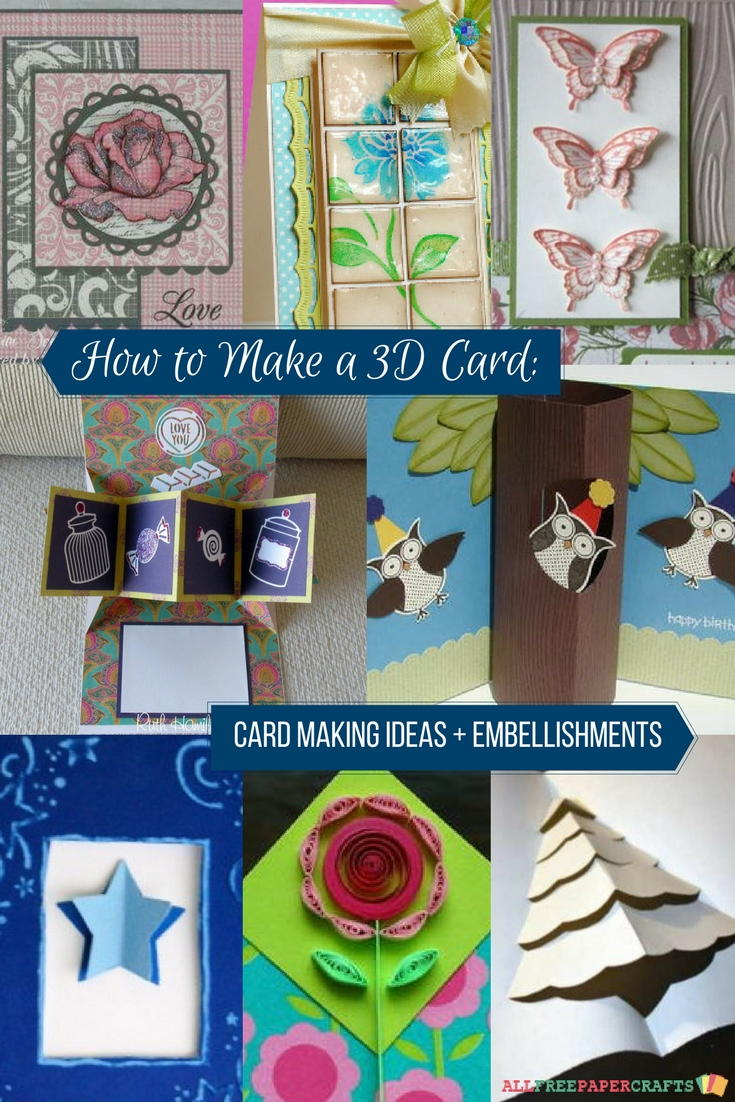 How To Make A 3d Card 23 Card Making Ideas Allfreepapercrafts