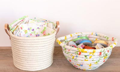 Easy No Sew Rope Basket