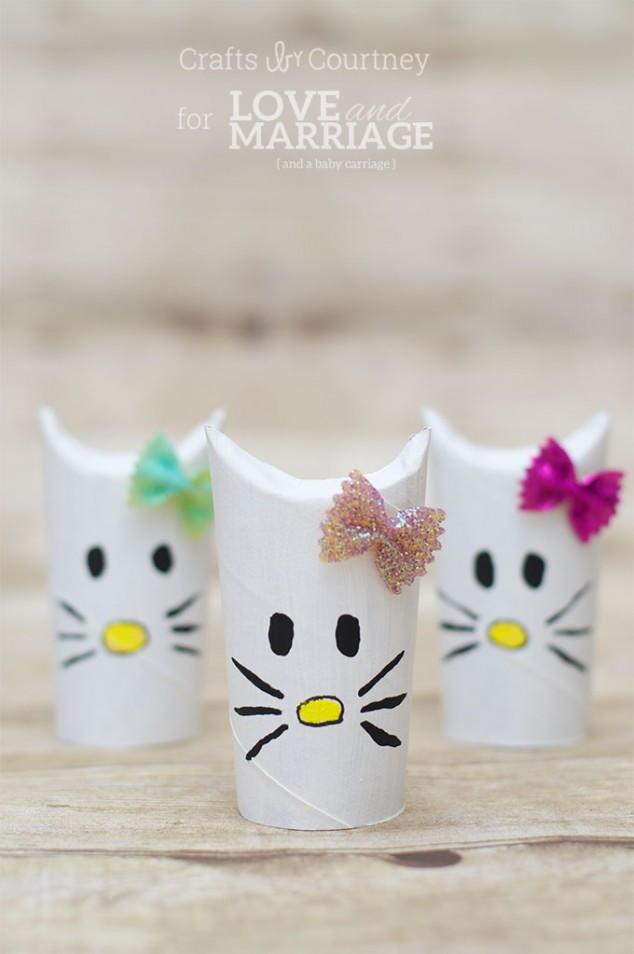 Cute Hello Kitty Toilet Roll Craft Allfreeholidaycrafts Com