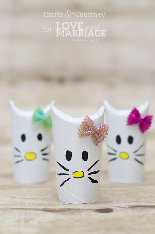 Cute Hello Kitty Toilet Roll Craft