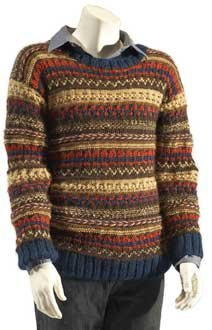 Mens Cozy Hand-knit Sweater