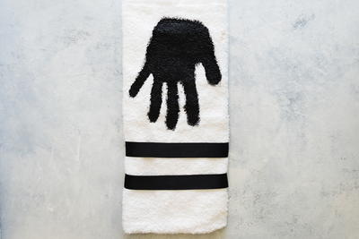 Customized Hand Print Towel
