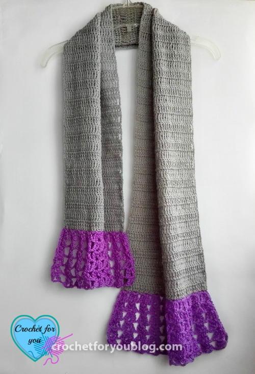 Simple Flared Crochet Scarf Allfreecrochet