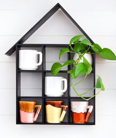 House Shaped DIY Shelves