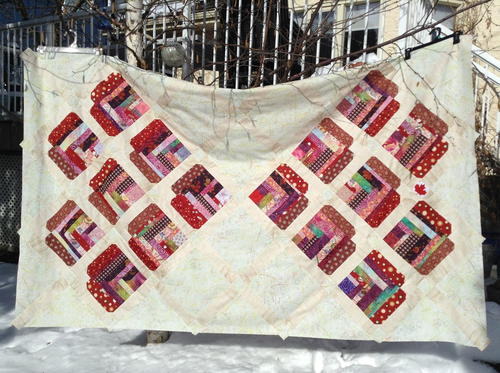 Improvised Heart Quilt Construction Tutorial