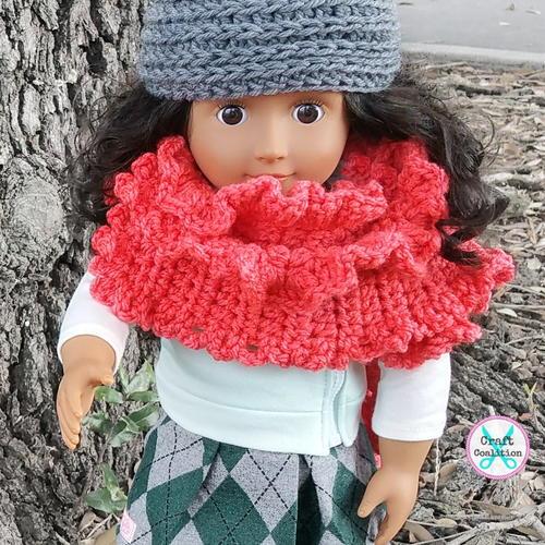 My Dolly Ruffle Ruana Allfreecrochet