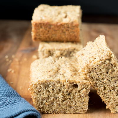 Feel Good Flax Cornbread