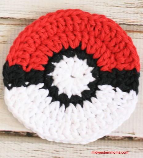 Pokeball Crochet Coasters Allfreecrochet