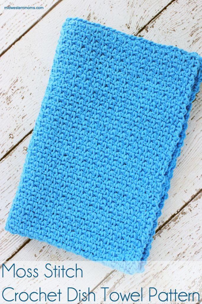 Easy Moss Stitch Dishcloth Allfreecrochet