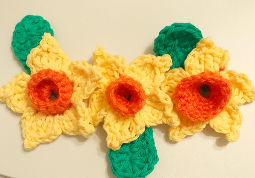 Daffodil Pattern | AllFreeCrochet.com