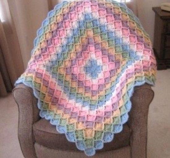Rainbow Bavarian Crochet Blanket Allfreecrochetafghanpatterns