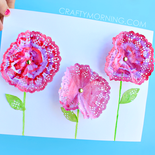 Pretty Doily Flower Craft