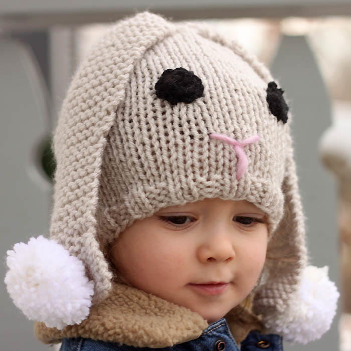 Lil' Baby Bunny Hat | AllFreeKnitting.com