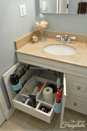 Sliding Bathroom DIY Vanity Shelf