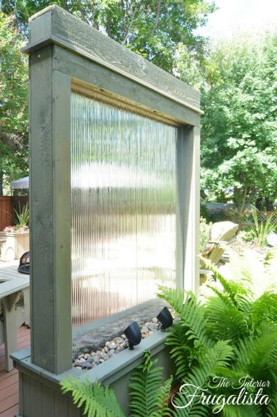 Outdoor Homemade Water Wall