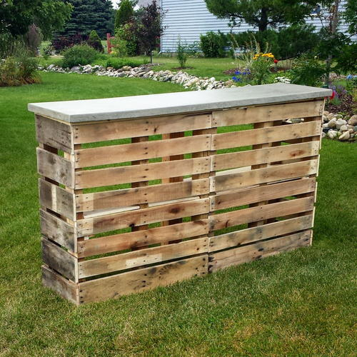 diy pallet patio bar. Nifty DIY Pallet Patio Bar Diy L